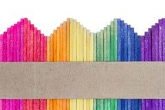 Palillo de madera colorido del helado fotografía de archivo libre de regalías