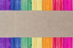 Palillo de madera colorido del helado imagenes de archivo