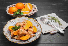 Palillo de pollo cocido Foto de archivo libre de regalías