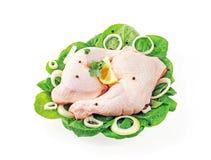 Palillo de pollo y muslo enfriados Imagen de archivo