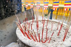 Palillo del incienso o palillo de ídolo chino foto de archivo libre de regalías