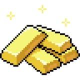 Palillo del oro del arte del pixel del vector ilustración del vector