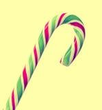 Palillo verde, blanco y rojo de la Navidad del caramelo, piruleta, ronda espiral de la forma, aislada Fotografía de archivo libre de regalías