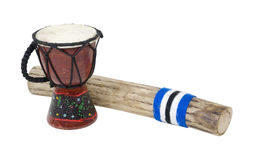 Palillo y tambor de la lluvia Imagenes de archivo