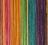 Palillos coloreados Fotografía de archivo libre de regalías