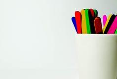 Palillos coloridos del caramelo Imágenes de archivo libres de regalías