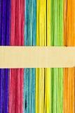 Palillos coloridos del helado Imagenes de archivo