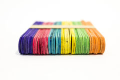Palillos coloridos del helado Imagen de archivo libre de regalías