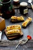 Palillos con queso foto de archivo libre de regalías