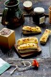 Palillos con queso imágenes de archivo libres de regalías