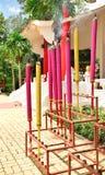 Palillos de ídolo chino coloridos gigantes Fotos de archivo