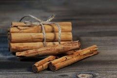 Palillos de canela Imágenes de archivo libres de regalías