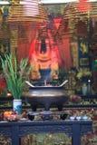 Palillos de ídolo chino budistas del rezo Fotos de archivo libres de regalías