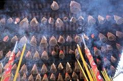 Palillos de Incence en China imagen de archivo libre de regalías
