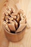 Palillos de la galleta con el relleno Foto de archivo