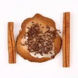 Palillos de la galleta y de cinamomo de la Navidad Imagen de archivo