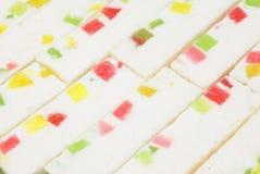 Palillos de la melcocha con la mermelada Fotos de archivo libres de regalías