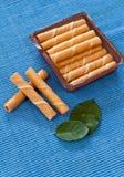 Palillos de la oblea de la menta Foto de archivo libre de regalías