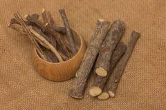 Palillos de la raíz de regaliz Foto de archivo