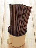 Palillos de madera Fotos de archivo libres de regalías