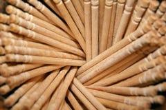 Palillos de madera Imagen de archivo libre de regalías