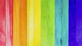 Palillos de madera coloridos del helado Fotografía de archivo