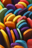 Palillos de madera coloridos del helado Imagenes de archivo