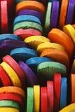 Palillos de madera coloridos del helado Fotos de archivo libres de regalías