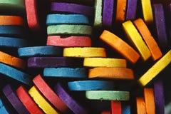 Palillos de madera coloridos del helado Imágenes de archivo libres de regalías