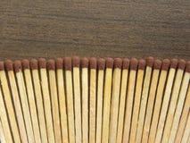 Palillos de madera del partido imagenes de archivo