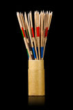 Palillos de Mikado en caja de cartón Fotografía de archivo