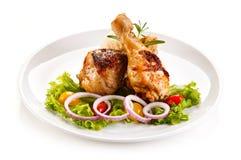 Palillos de pollo asado Foto de archivo libre de regalías