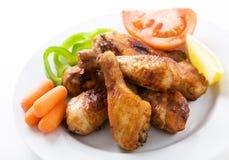 Palillos de pollo asados Fotografía de archivo