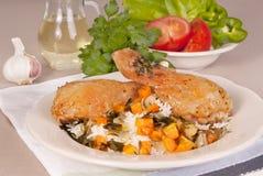 Palillos de pollo asados Imagen de archivo libre de regalías