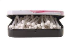 Palillos del algodón en rectángulo fotografía de archivo