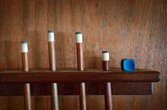 Palillos del billar Imagen de archivo libre de regalías