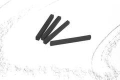 Palillos del carbón de leña fotografía de archivo libre de regalías