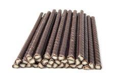 Palillos del chocolate Foto de archivo libre de regalías
