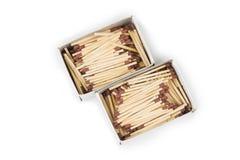 Palillos del partido con las cabezas marrones en pilas Fondo de la textura de los partidos fotografía de archivo libre de regalías