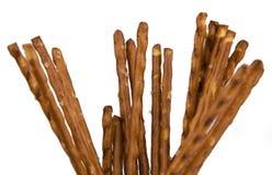 Palillos del pretzel aislados Foto de archivo