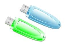 Palillos del USB Fotos de archivo libres de regalías