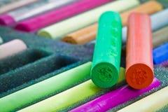 Palillos en colores pastel Fotografía de archivo