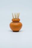 Palillos en pequeña cerámica Foto de archivo libre de regalías