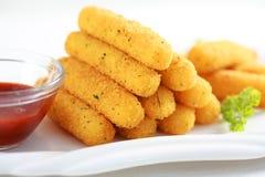 Palillos fritos mozarela Imagenes de archivo