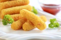 Palillos fritos mozarela Imagen de archivo libre de regalías