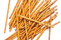 Palillos salados del bocado aislados Imagen de archivo libre de regalías