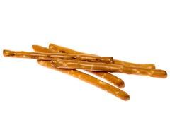 Palillos salados del pretzel Imágenes de archivo libres de regalías