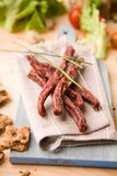 Palillos secados de la carne de cerdo Imagen de archivo libre de regalías