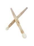 Palillos usados del tambor Imagen de archivo