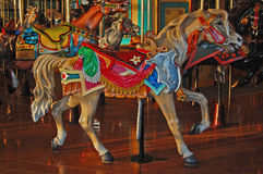 Palimino Carousel Horse Stock Photo
